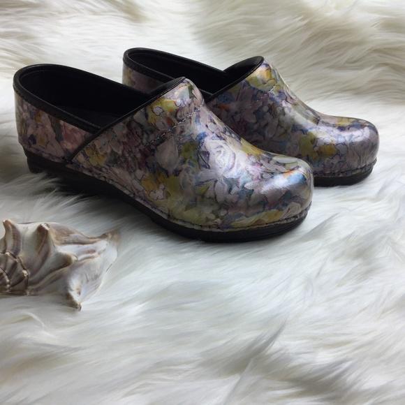 Dansko Shoes | Pastel Bouquet Leather